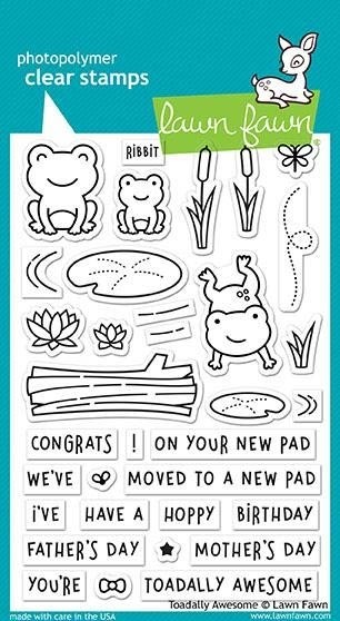 Lawn Fawn Toadally Awesome Clear Stamp Set