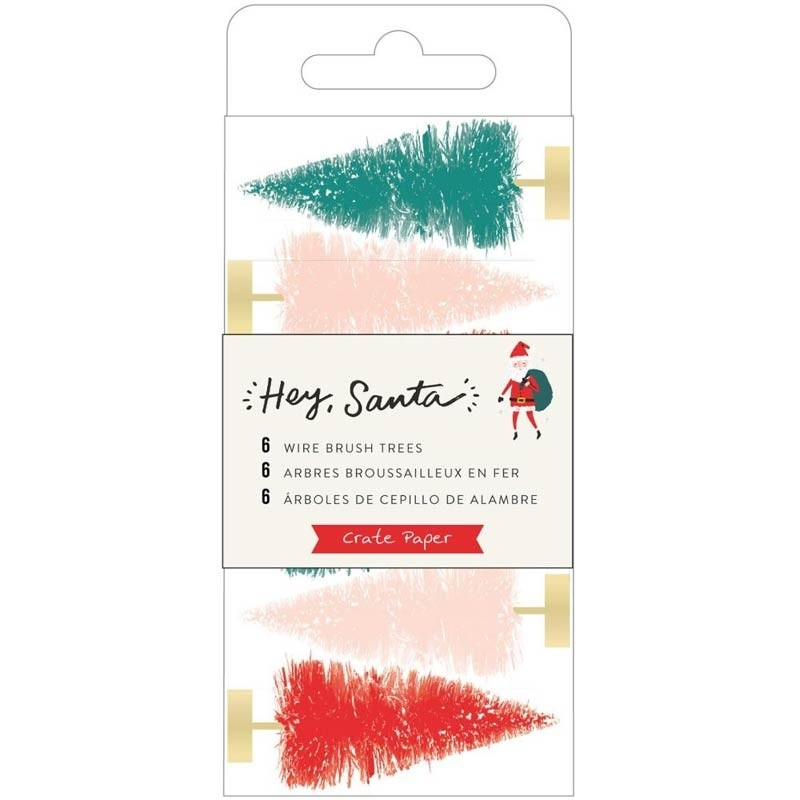 Hey Santa Wire Brush Trees