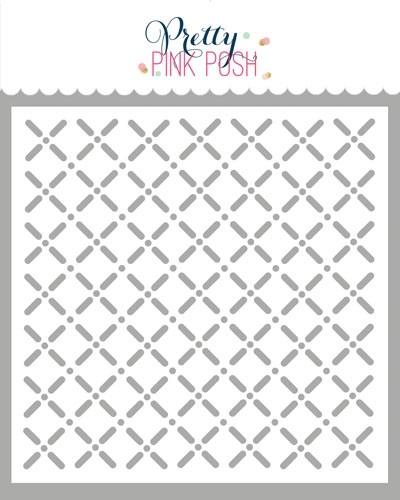 Pretty Pink Posh Trellis Stencil