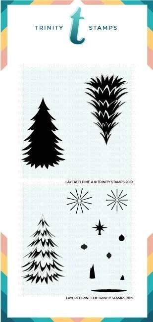Trinity Layered Pine Tree - 6x6 Laser Cut 2-Piece layering Stencil Set