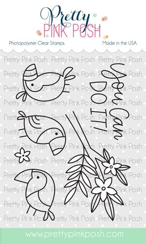 Pretty Pink Posh Tropical Toucans Stamp Set