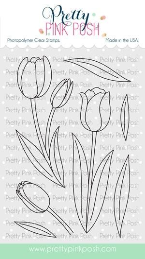 Pretty Pink Posh Tulips Stamp Set