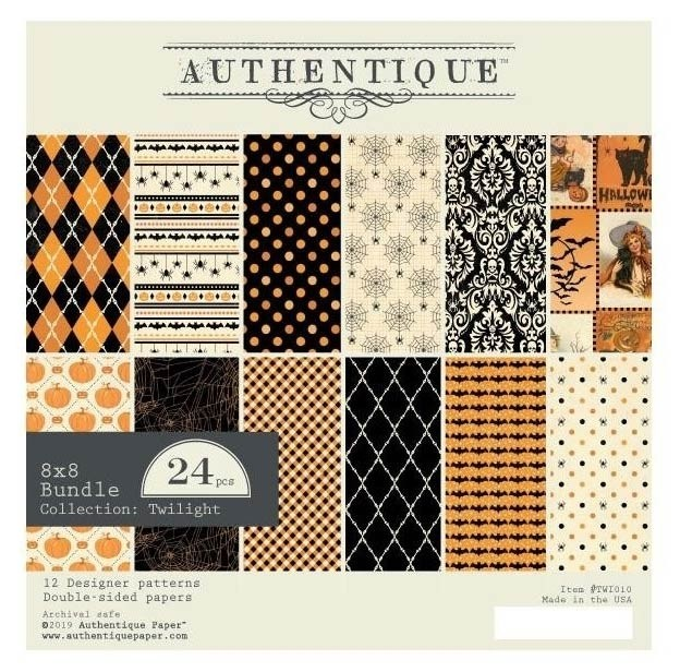 "Authentique Double-Sided Cardstock Pad 8""X8"" Twilight"