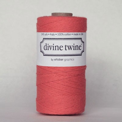 Solid Coral Twine