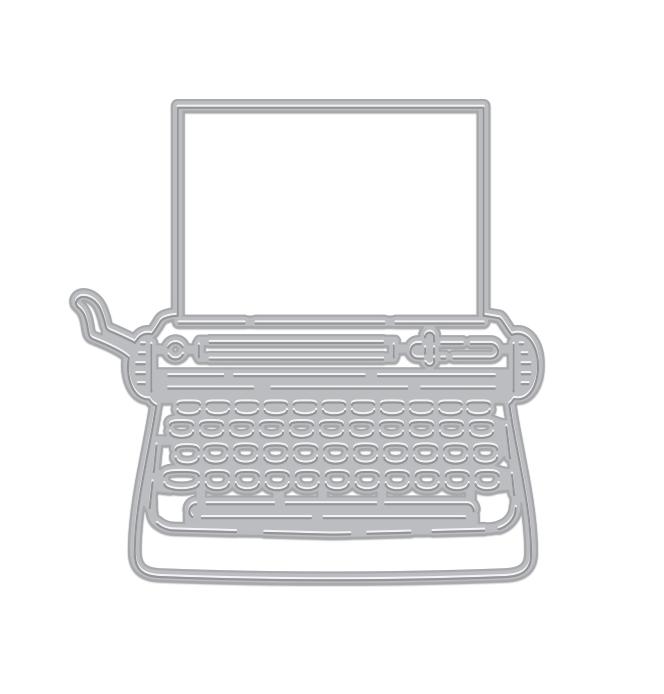 Hero Arts Typewriter Fancy Die  D1874
