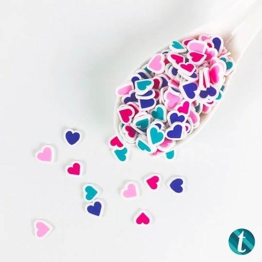 Unconversationals- 10mm Clay Heart Sprinkles Mix