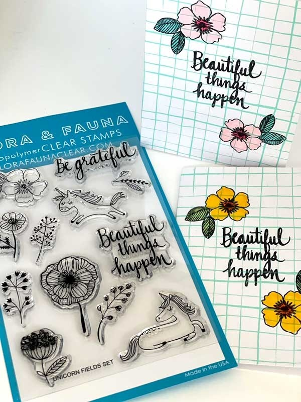 Daily Deal  - Flora and Fauna Unicorn Fields Clear Stamp Set