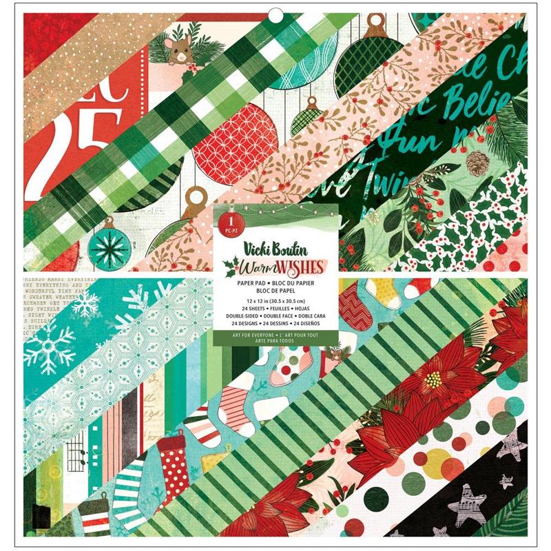 Vicki Boutin Warm Wishes Paper Pad 12 x 12