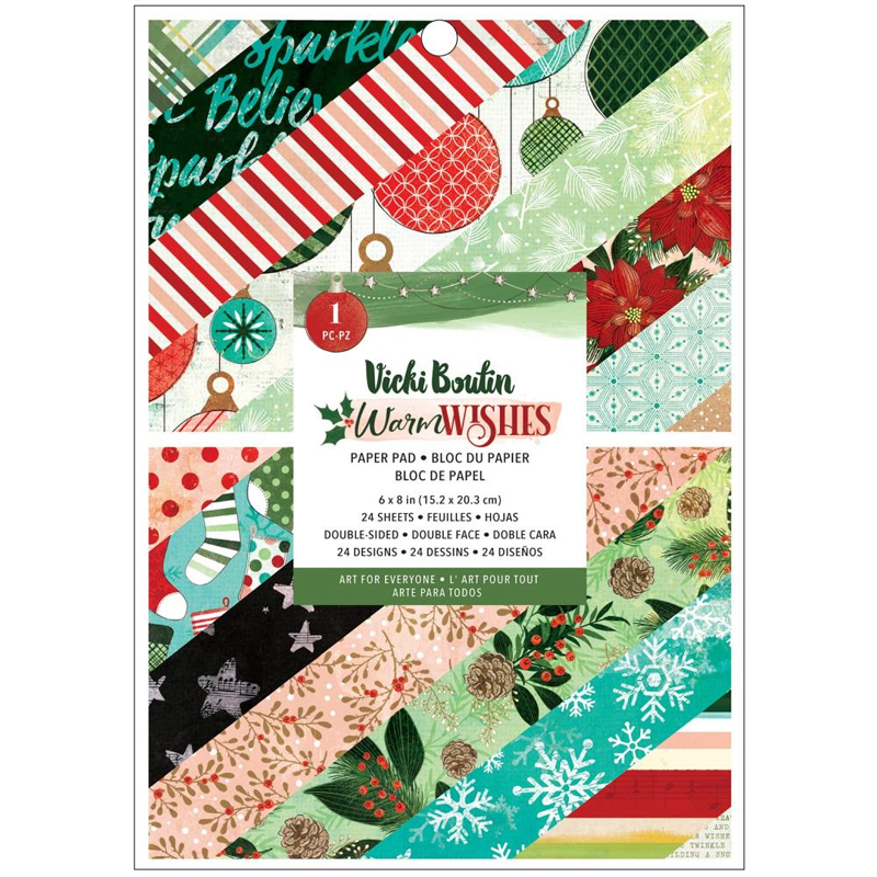 Vicki Boutin Warm Wishes Paper Pad  6 x 8