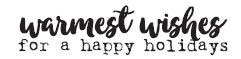 Warmest Wishes Rubber Stamp 1595d