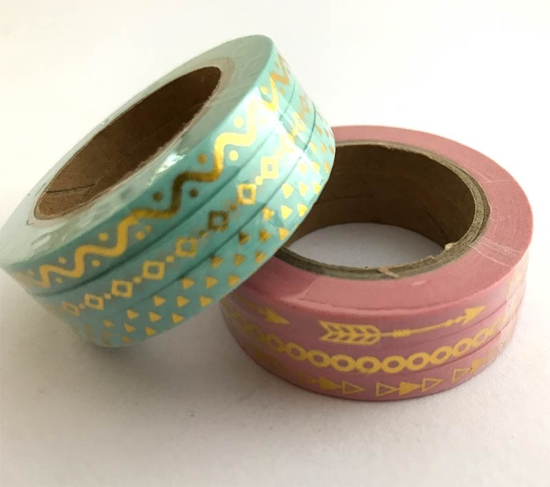Narrow Graphic Washi Tape Sets