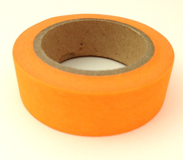 Neon orange washi tape