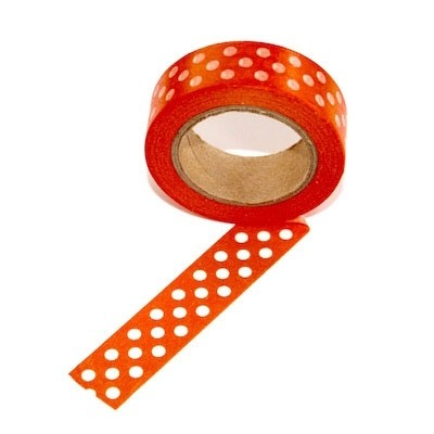 Orange With White Dots Washi Tape