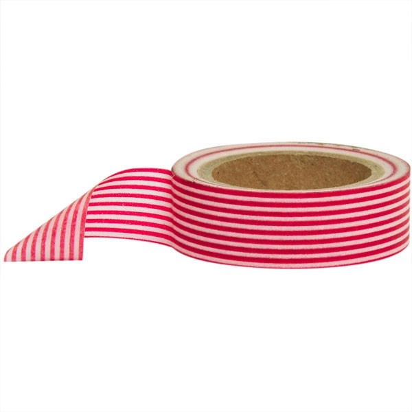 red and white stripe washi tape