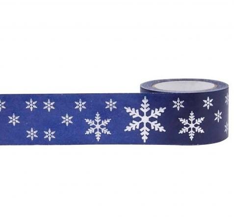 silver snowflake washi tape