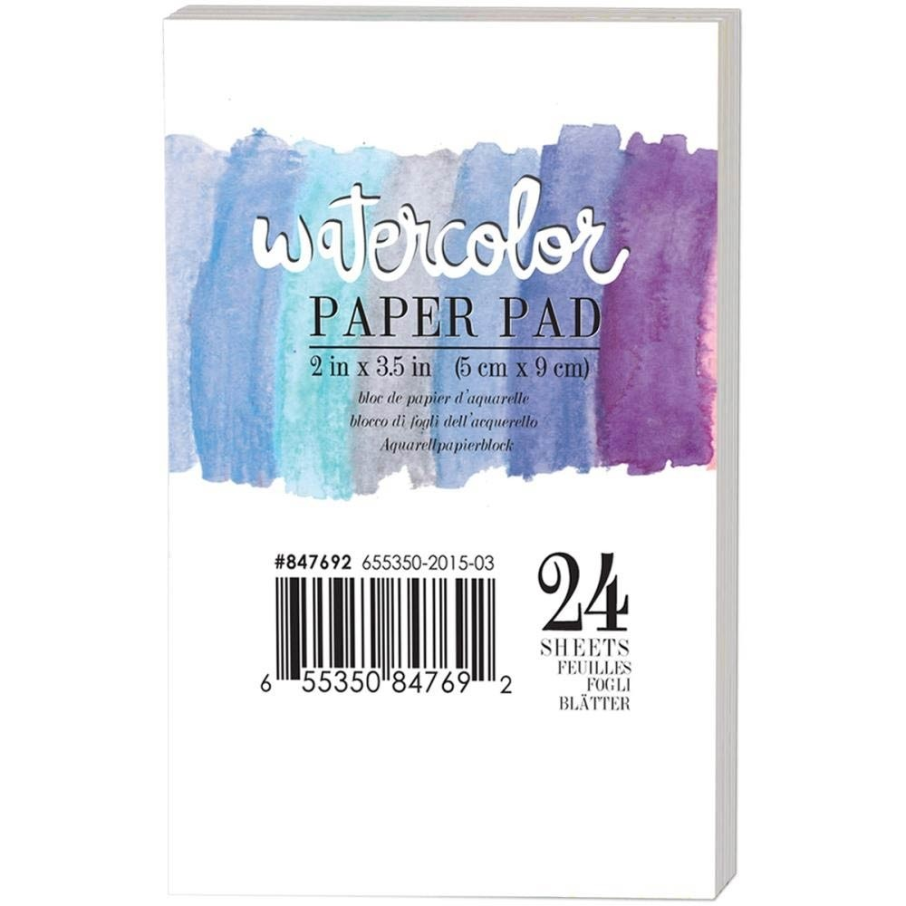 "Prima Watercolor Paper Pad 2""X3.5"" 24/Pkg"