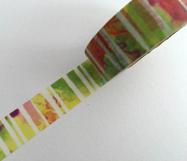 Watercolored Stripes Washi Tape