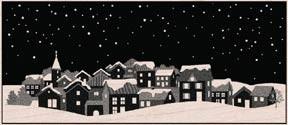 Hero Arts Winter Town Rubber Stamp