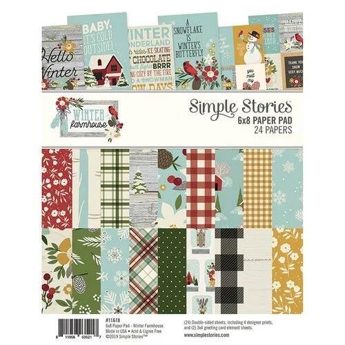 SALE - Simple Stories Winter Farmhouse Paper Pad