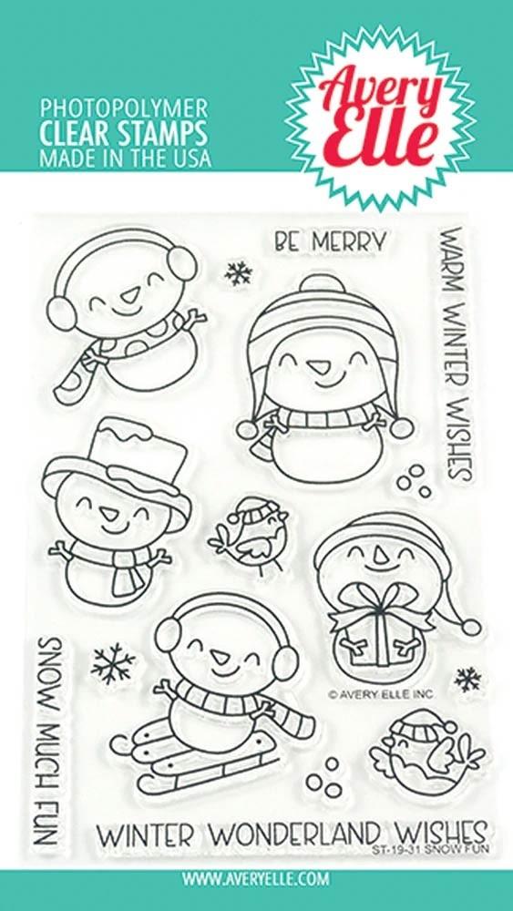 Avery Elle Winter Snow Fun Stamp Set