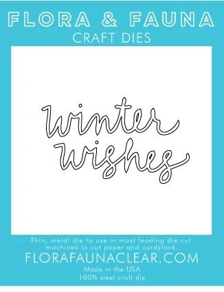 Flora and Fauna Winter Wishes Cursive Die 30223
