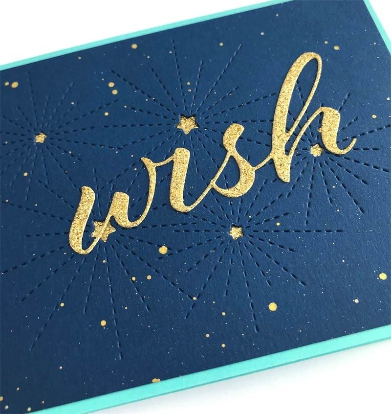 Memory Box Wish Airy Script 94328