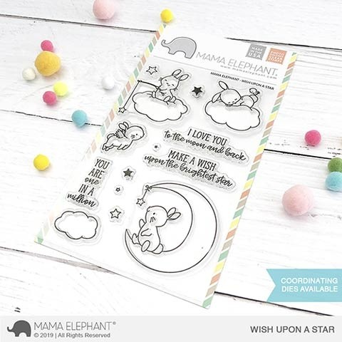 Mama Elephant The Wish Upon a Star clear stamp set