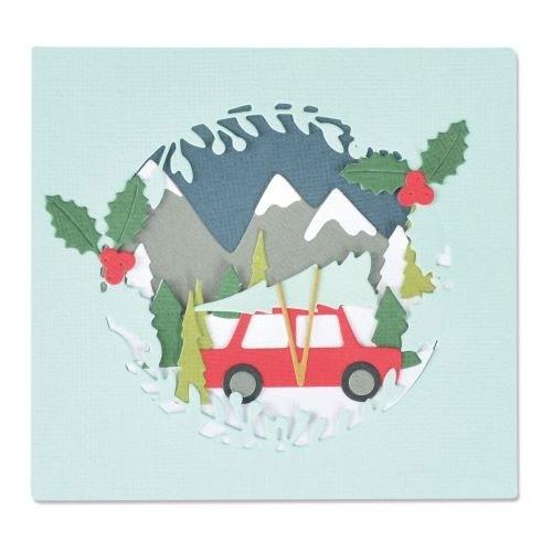 Sizzix Thinlits Die Set 10PK - Winter Woodland