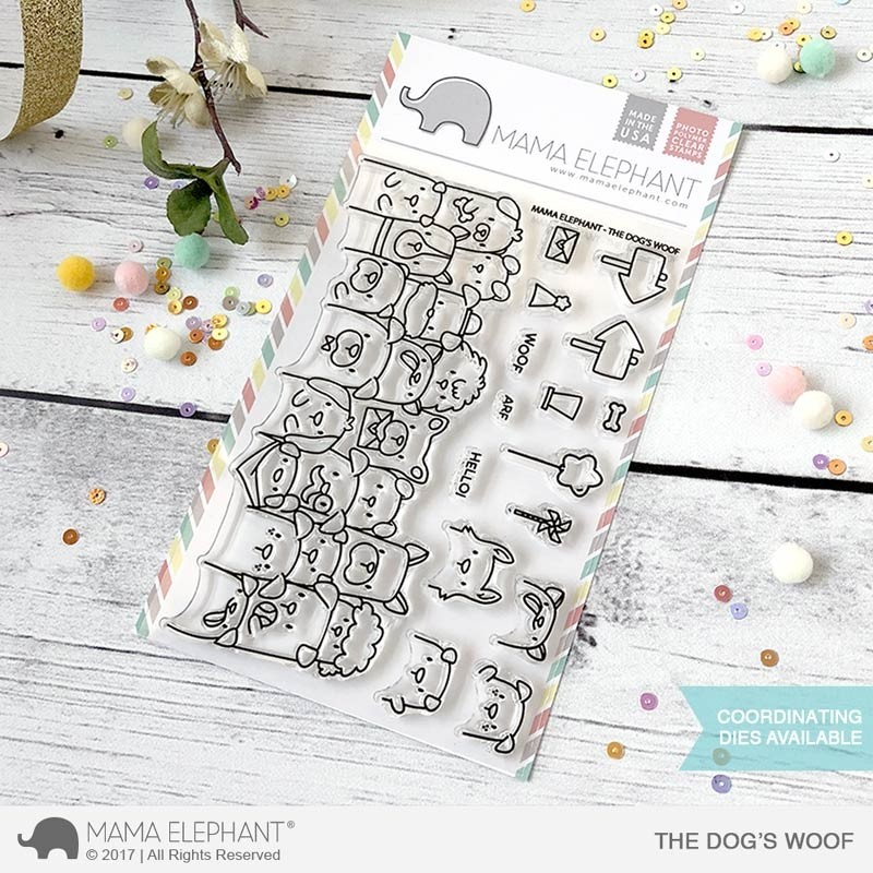 Mama Elephant The Dog's Woof Clear Stamps