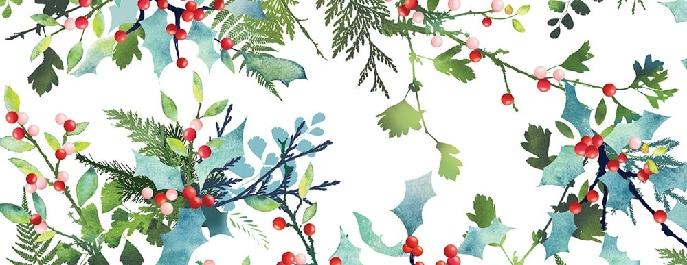 Watercolor Forest Greenery Wide Washi Tape