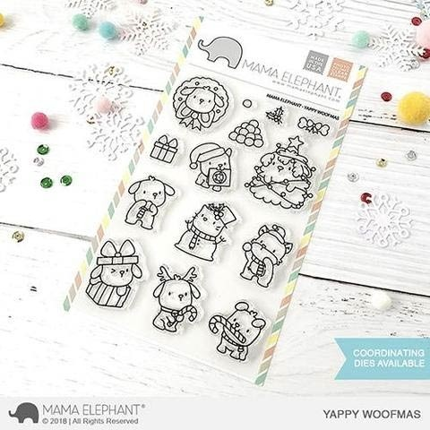 Mama Elephant Yappy Woofmas clear stamps