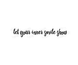 Let your inner smile show rubber stamps io20263
