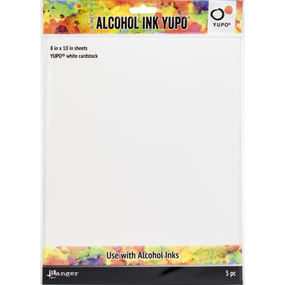 Tim Holtz Alcohol Ink White Yupo Paper 86lb 8x10in.