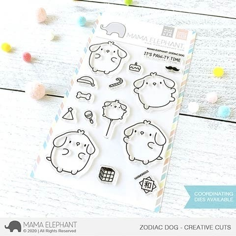 Mama Elephant ZODIAC DOG clear stamp