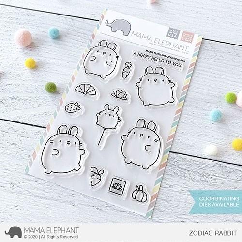 Mama Elephant Zodiac Rabbit Stamps