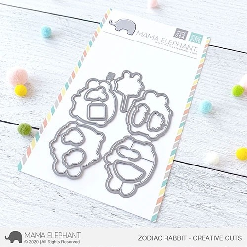 SALE - Mama Elephant Zodiac Rabbit Cuts