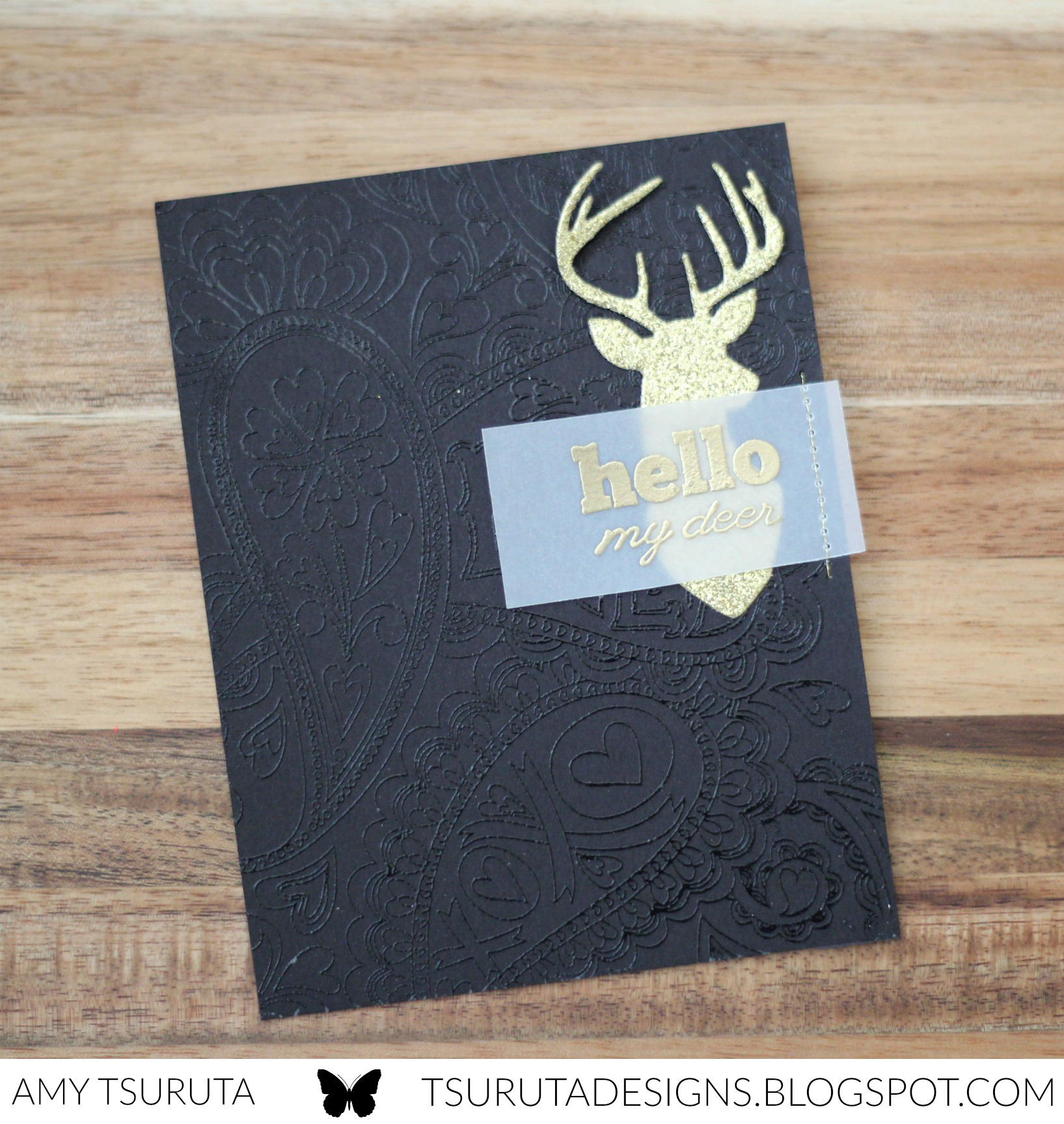 Hello my deer by Amy Tsuruta for Impress + Savvy  Stamps